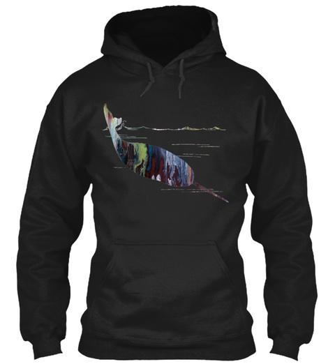 Narwhal  Black Sweatshirt Front