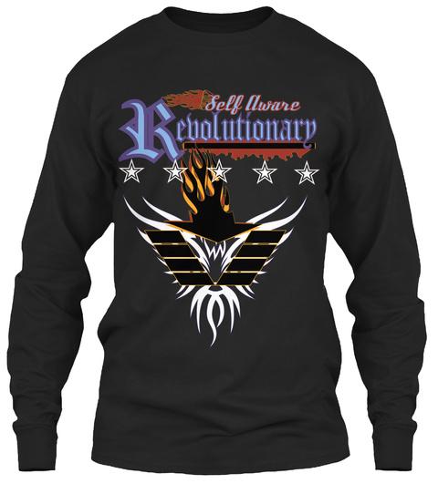 R Self Aware Evolutionary Black Long Sleeve T-Shirt Front