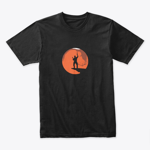 Launch Day Mars 🚀 #Sfsf Black T-Shirt Front
