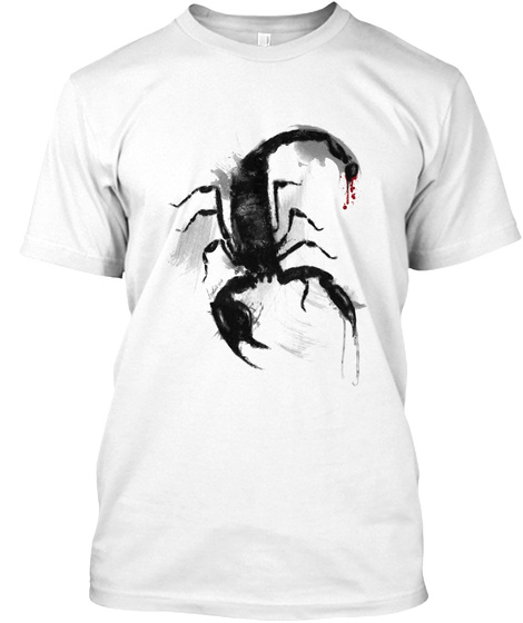 The Scorpion Limited Edition White T-Shirt Front