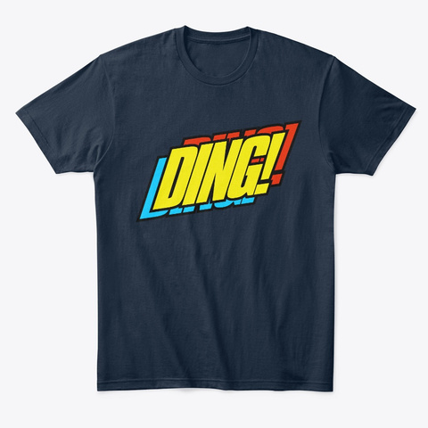 Ding! New Navy T-Shirt Front