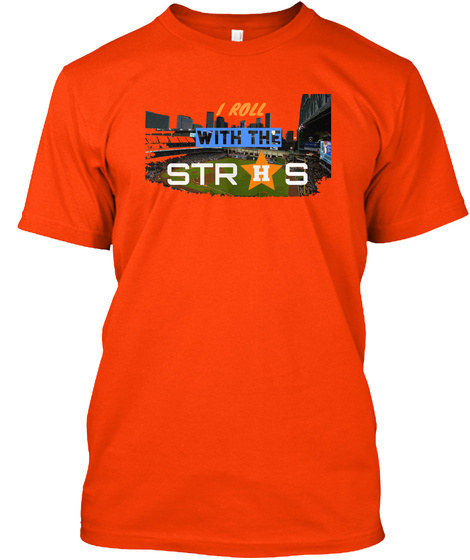 #Astronation/ #Rollwithstros Orange T-Shirt Front