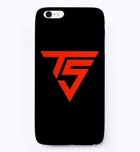Black / Red I Phone Cases Black T-Shirt Front