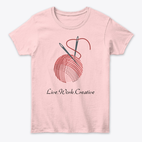 Stitch Your Art Out Light Pink T-Shirt Front