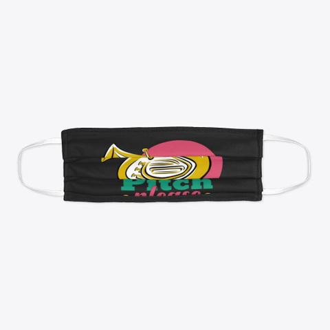 Tuba   Pitch Please   Face Mask Black T-Shirt Flat