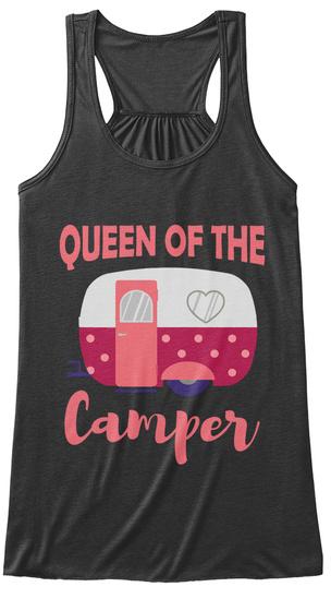 Queen Of The Camper Dark Grey Heather T-Shirt Front