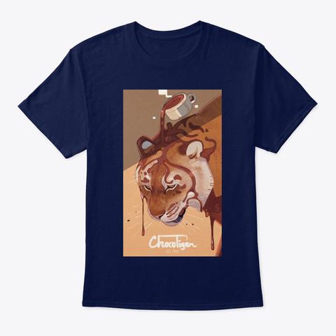 Choco Tiger Navy T-Shirt Front