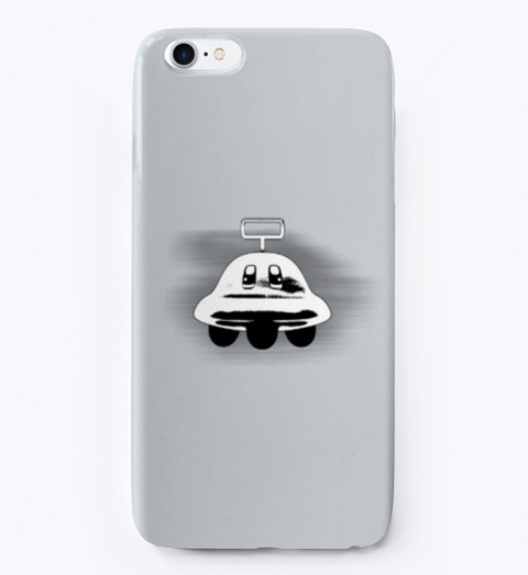 Ufo I Phone/Samsung Case (Kirby Series) Light Grey T-Shirt Front