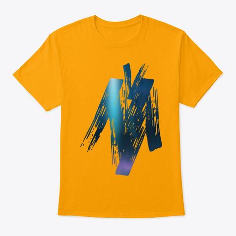 Art T Shirts Gold T-Shirt Front