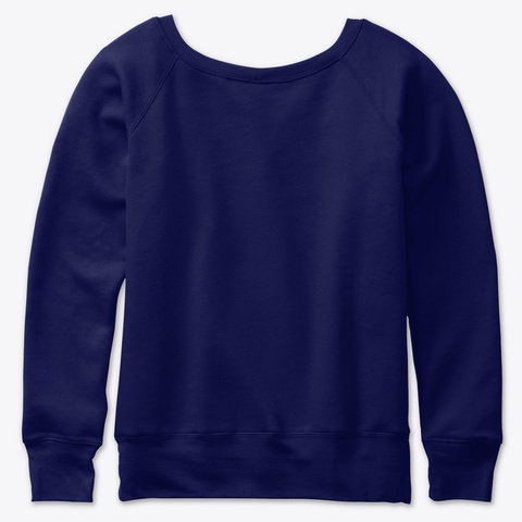 Chic Slouchy Sweatshirt Navy  Sweatshirt Back