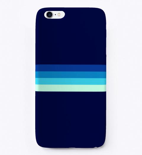 Nagayasu Blue Gradient Retro Stripes Standard T-Shirt Front
