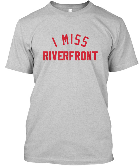 Naming Wrongs: Arched Riverfront (Grey) Light Steel T-Shirt Front
