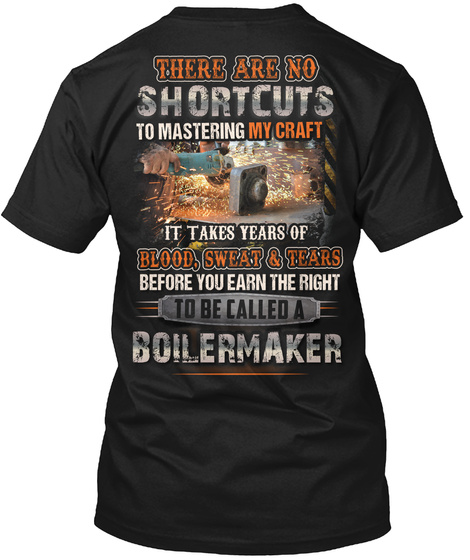 Awesome Boilermaker Shirt Black T-Shirt Back