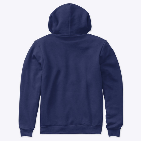 Hazard Team Exotic Hoodie Navy T-Shirt Back