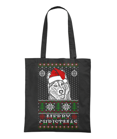 Merry Christmas Black T-Shirt Back