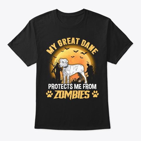 Halloween Great Dane Lover Gift Black T-Shirt Front