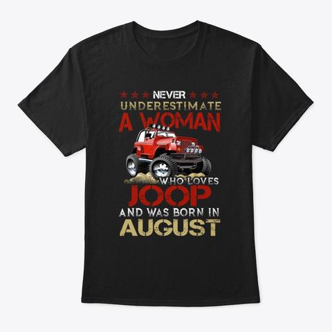 Cute Women A Joop Lover In August Tee Black T-Shirt Front