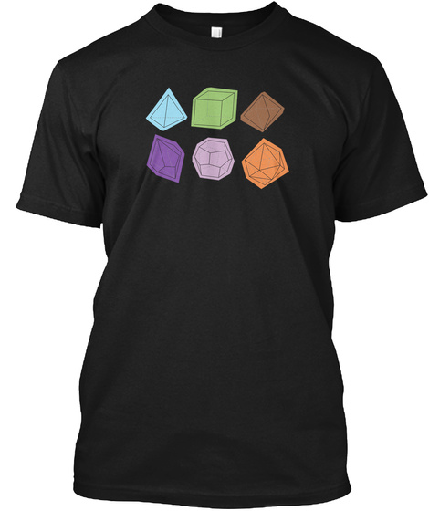 All The Dice! Roleplaying Rpg Dn D D&Amp;D Black T-Shirt Front