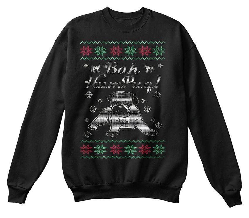 unisexe Cool Sweat Pug Pull Humpug de standard Bah Noël shirt pqYY48Ex