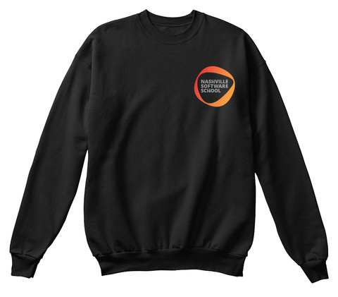 Nashville Software School Black Sweatshirt Front