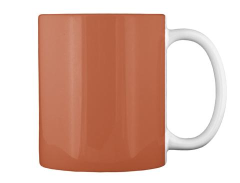 Coffee Guys Mug Burnt Orange T-Shirt Back