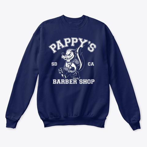 Pappy's Skunk Design Navy  T-Shirt Front
