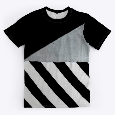 T Shirt: Secret Pattern Black T-Shirt Front