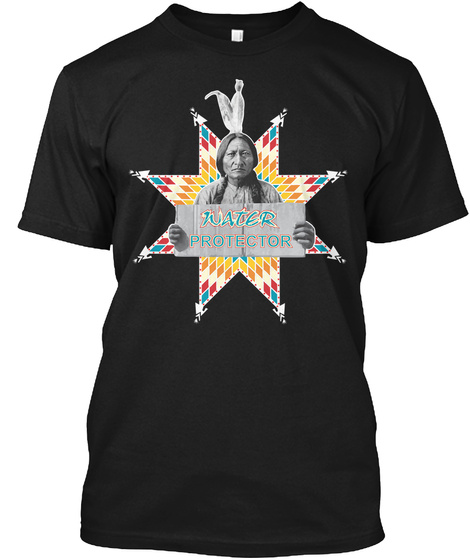Water Protector Black T-Shirt Front