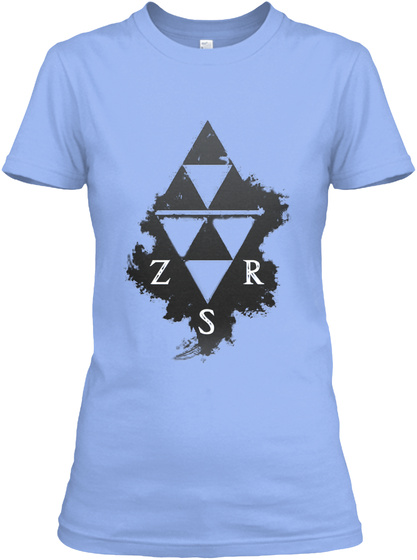 Zsr Relaxed Tee(Women) Light Blue Camiseta de Mujer Front