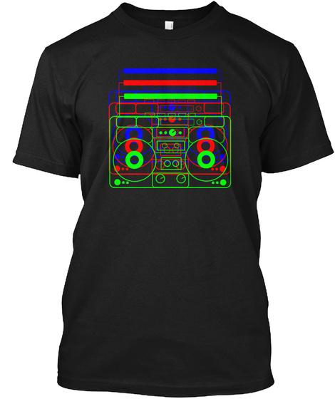 Classic Radio Dark Black T-Shirt Front