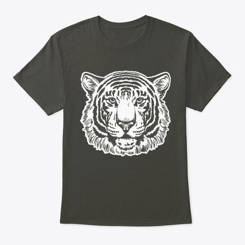 Tiger Face Smoke Gray T-Shirt Front