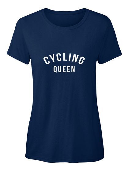 Cycling Queen Navy T-Shirt Front