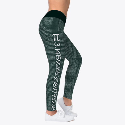 Pi Math Legging Standard T-Shirt Right