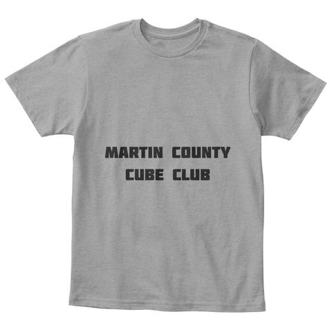 Kids Martin County Cube Club Shirt Light Heather Grey  T-Shirt Front