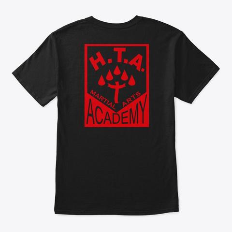 Hta Martial Arts Academy Black T-Shirt Back