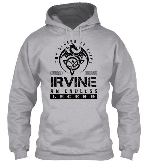 Irvine   Legends Alive Sport Grey T-Shirt Front