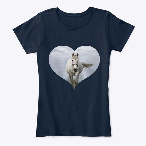Horse Art Love New Navy T-Shirt Front