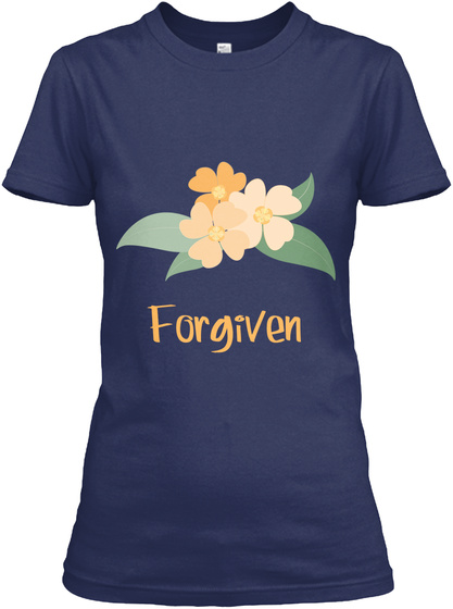 Forgiven Navy Women's T-Shirt Front