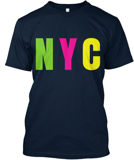 Nyc New Navy T-Shirt Front