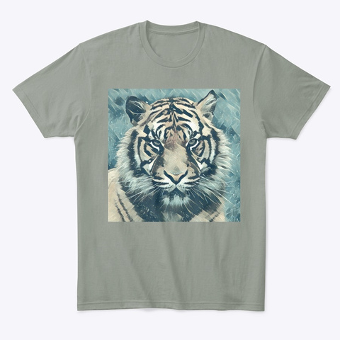 Ice Tiger T Grey T-Shirt Front
