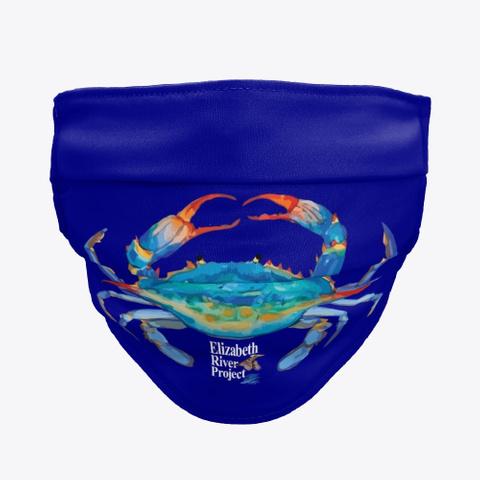 Crab Mask For Elizabeth River Project Deep Navy T-Shirt Front