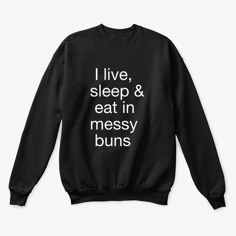Officially Haley Messy Buns Black T-Shirt Front