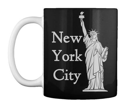 New York City Black T-Shirt Front