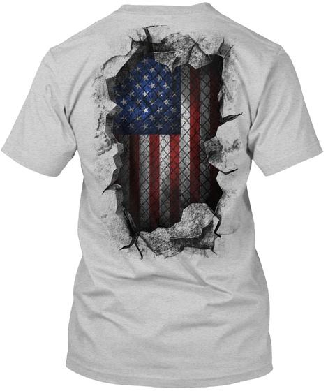 Usa Breakthrough Light Steel T-Shirt Back