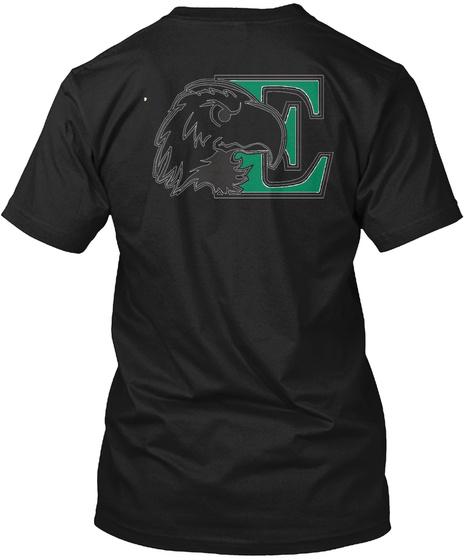 E Black T-Shirt Back