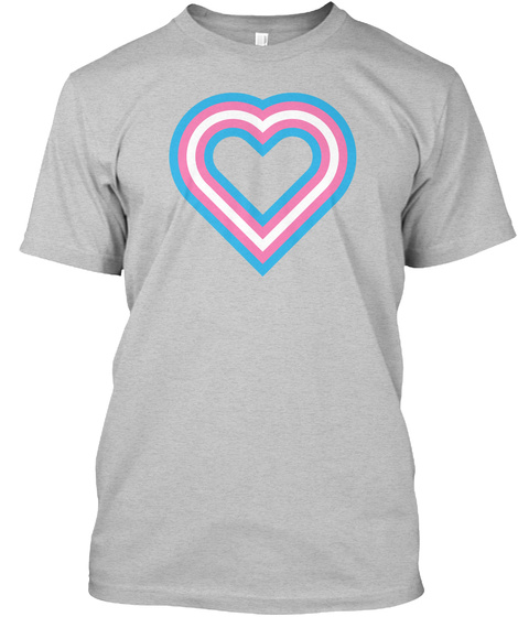 Transgender Heart Light Heather Grey  T-Shirt Front