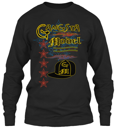 G An Gsta Odel M G M Black Long Sleeve T-Shirt Front