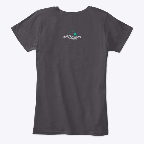Everything On You Has Been Designed Heathered Charcoal  T-Shirt Back