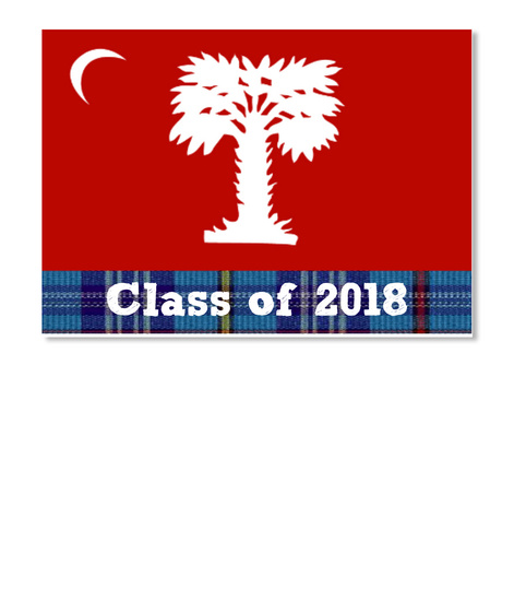 Class Of 2018 White Stiker Front