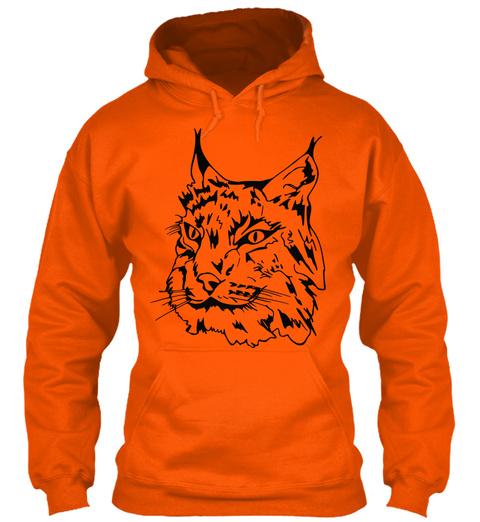 Lynx Hoodie Safety Orange Sweatshirt Front